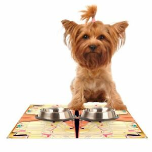 "Dog Feeding Mat Cat Nina May ""Naranda"" Kess In House Pet Bowl 24""x15"" Inch"