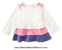 Gymboree NWT Ivory SUPER STAR TIERED PURPLE PINK SWING VELOUR DRESS TOP SHIRT 2T