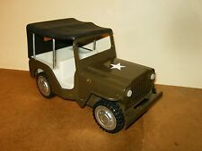 Ancien jouet tôle vintage - JEEP WILLYS MB MILITAIRE - ?? early TONKA ?? - 26cm