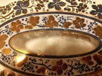 Georges Briard Oval Platter Serving Tray Gold Dust Signed Vintage