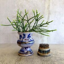 Vintage Jack Jackman Pottery Vase Signed Australia Handcrafted Blue Abstract