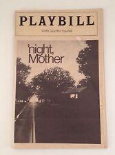 Playbill Night Mother Kathy Bates 1983 John Golden Theatre Souvenir