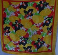 "BAAR BEARDS VINTAGE SILK SCARF 30"" SQUARE"