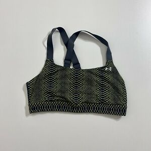 Under Armour Women's Crossback Mid Sports Bra Gray/Green Size L