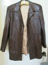 Vintage Scully Leatherwear of California Leather Jacket Brown Size Men's 38 Euc