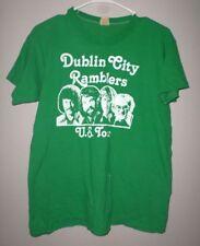 DUBLIN CITY RAMBLERS vtg lrg T shirt Irish folk act 1970s US tour Patsy Watchorn