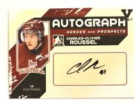 2010-11 ITG Heroes & Prospects Autograph Charles-Olivier Roussel Auto Vault