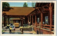 Yellowstone National Park Postcard CANYON LODGE Hotel Front View Haynes Linen