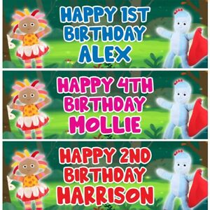 2 Personalised In The Night Garden Birthday Party Celebration Banners Posters
