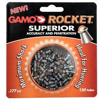 Gamo Rocket Air Gun Pellets 632127454 .177 Caliber 866 FPS 150/pack 632127454