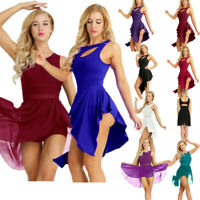 Womens Lyrical Contemporary Ballet Dress Gymnastics Leotard Dance Skirts Costume