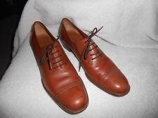 Salvatore Ferragamo Oxford Dress Shoes Brown Leather 8.5 AA