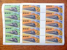 Guyana Wholesale 1987 trains de 10 $ & $12 in (environ 30.48 cm) Feuilles de 10 Prix De Vente FP2440