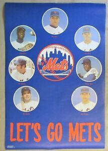 1969 LETS GO NEW YORK METS Vintage Original Poster NMT Tom Seaver Koosman Agee
