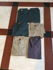 Lot Of 6 Vtg Dee Cee Washington Work Shirt- Long Sleeve Dead Stock Sz 4 Xl Nos