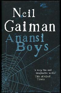 ANANSI BOYS by Neil Gaiman UK HB 1st SIGNED by Gaiman