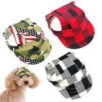 Dog Sun Hat Canvas Summer Baseball Cap Small Pet Cat Visor Outdoor Accessory S-L