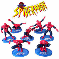 7 Spider-Man Action Figures Doll Kid Display Figurines Set Cake Topper Decor Toy