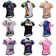 Ladies Cycling Jerseys Shirts Short Sleeve Women's Bike Cycle Jersey Tops S-5XL