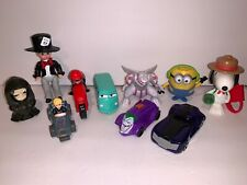 Mixed Lot of 10 McDonald Happy Meal Toys Figures Pokemon Snoopy