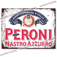 PERONI Retro Tin Sign Man Cave Garage Beer Pub Bar Metal Garage Larger Shed