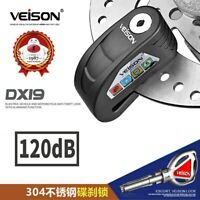 Disc Lock Alarm Lock Scooter Bike Alarm Safety Motorcycle Brake Rotor Padlock