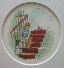 "Disney Winnie the Pooh Collection ""Up to Bed"" - Mounted 8""x10"" Nursery Art Print"