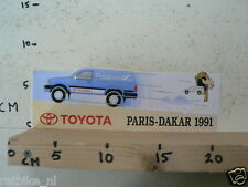 STICKER,DECAL TOYOTA PARIS-DAKAR 1991 RUCANOR RALLYE CAR LARGE