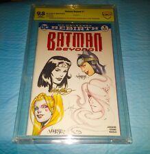 BATMAN 1 BLANK COVER Original Art Billy Tucci  Jose Varese & Bob Mcleod CBCS 9.8