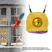 Pet Bird Parrot Parakeet Budgie Warm Hammock Cage Soft Hut Tent Bed Hanging Cave