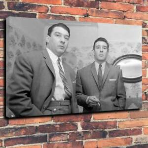 """The Kray Twins Printed Box Canvas Picture A1.30""""x20""""  30mm Frame Kray's Gangster"""
