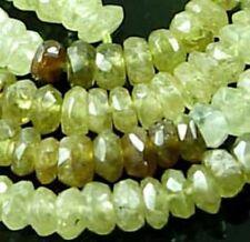 "4x2mm Grossular Garnet Faceted Rondelle Beads 15"""