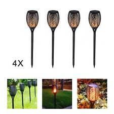 4 Pack 33 LED Solar Torch LED Flickering Light Dancing Flame Garden Lamp
