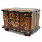 NEW Antique Rustic Wood Finished Resin Large Handmade Cigar/Jewelry/Treasure Box