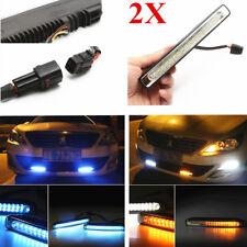 2x SUV Sport Daytime Running Light DRL Fog Lamp LED Tricolor (White+Amber+Blue)