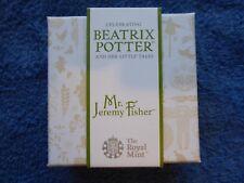 BEATRIX POTTER - Mr JEREMY FISHER - SILVER PROOF FIFTY PENCE / 50p - ROYAL MINT