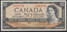 1954 BANK OF CANADA FIFTY DOLLARS B/H BC-42b BEATTIE RASMINSKY UNCIRCULATED NOTE