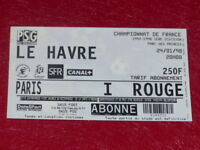 [COLLECTION SPORT FOOTBALL] TICKET PSG / LE HAVRE 24 JANV 1998 Champ.France