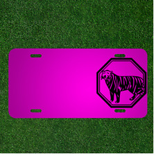 Custom Personalized Car License Plate With Add Names To Tiger Animal Mammal