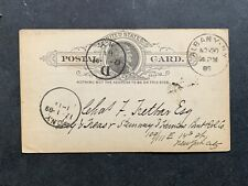 1889 ALBANY NY RR COMM AD POSTAL CARD !! STEINWAY HUNTER'S POINT RAILROAD NYC NY