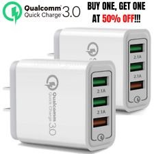 QC 3.0 Fast Quick Charge USB Hub Wall Charger Adapter US Plug For Samsung iPhone