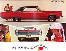 1967 Plymouth Fury 28-page Original Car Brochure Catalog - Convertible VIP Sport