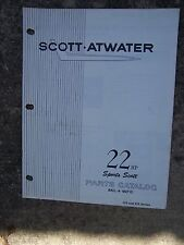Scott Atwater Outboard 22 HP Sports Scott Bail-A-Matic Parts Catalog 135 335   U