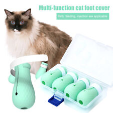 Anti-scratch Cat Shoes 4PCS/Set Grooming Bag Pet Paw Protector for Bathing M2F0
