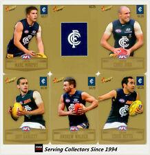 2012 Select AFL Champions Gold Parallel Card Team Set Carlton (12)