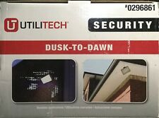 Utilitech 65-Watt Dusk-To-Dawn Bronze Security Flood Light (Bulb Included)