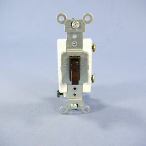 Leviton Brown COMMERCIAL Framed Toggle Light Switch 20A 120/277V Bulk 54521-2