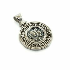 GODDESS ATHENA GREEK COIN PENDANT SOLID STERLING SILVER 925 CODE 83