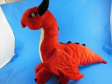 """Red Dragon Plush 16"""" nose to tail with Embroidered Eyes and Teeth Mighty"""