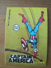 Marvel Stickers 1986 #52 Captain America - Mike Zeck - Comic Images ZST1